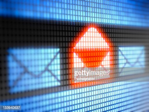 Illuminated you have mail icon : Stock Photo