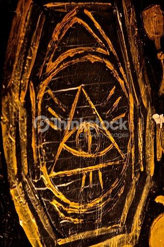 Illuminati Eye Freemasons Pyramid Symbol Secret Power Religion Stock