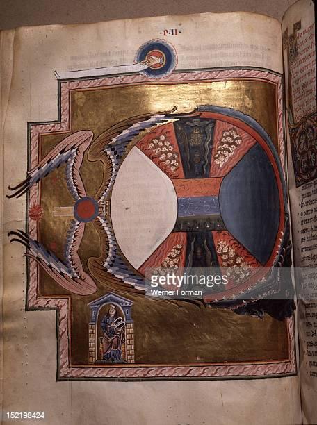 Illumination from Hildegard von Bingens Liber Divinorum Operum or Book of Divine Works in which her visions are interpreted through Biblical exegesis...