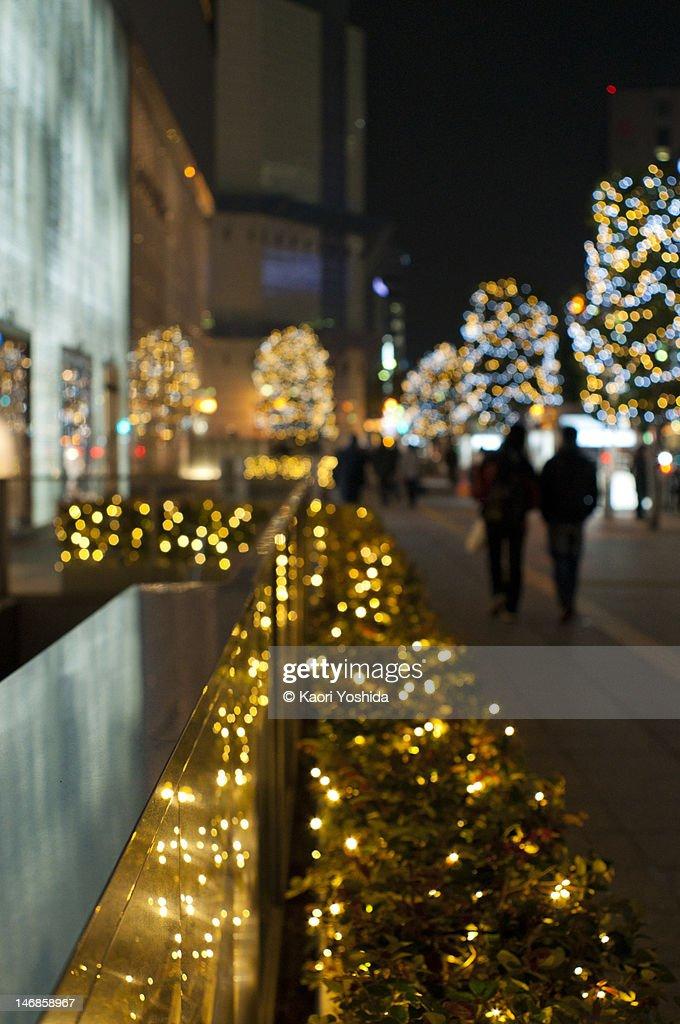 Illumination of the street : Stock Photo