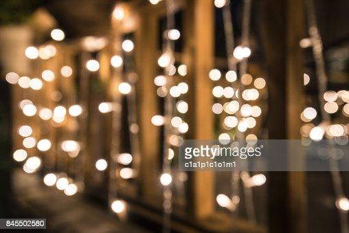 illumination on wooden fence : Stock Photo