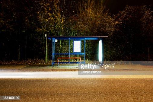 Illumnated bus stop