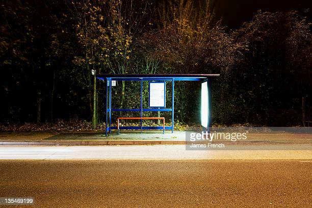 Illumnated bus stop