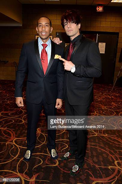 Illusionist Criss Angel and host Ludacris attend the 2014 Billboard Music Awards at the MGM Grand Garden Arena on May 18 2014 in Las Vegas Nevada