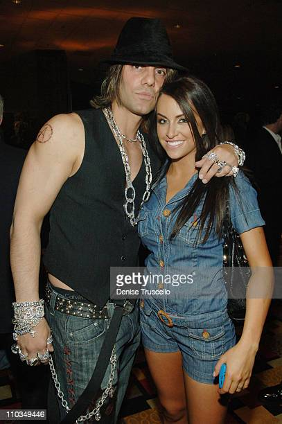 Illusionist Criss Angel and Miss Nevada 2008 Veronica Grabowski attend the 2008 Miss USA Competition After Party at Planet Hollywood Resort Casino on...