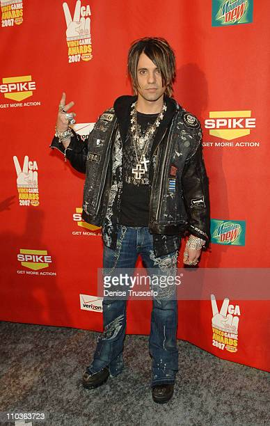 Illusionist Criss Angel arrives at Spike TV's 2007 Video Game Awards at the Mandalay Bay Events Center on December 7 2007 in Las Vegas Nevada