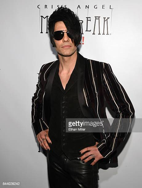 Illusionist Criss Angel attends the world premiere of 'Criss Angel Mindfreak Live' at the Luxor Hotel and Casino on June 30 2016 in Las Vegas Nevada