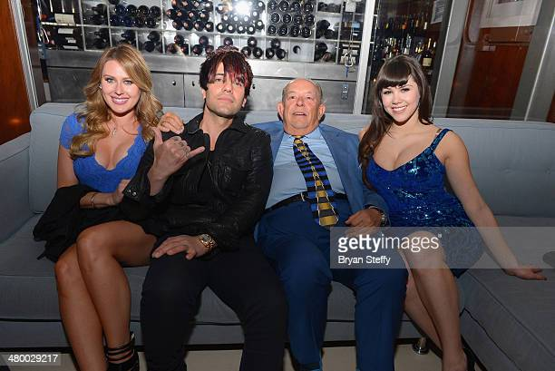 Illusionist Criss Angel television host and writer Robin Leach and model Claire Sinclaire appear during Cirque du Soleil's 2nd annual 'One Night for...
