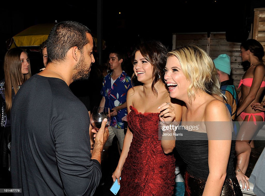 Illusionist David Blaine, Actress Selena Gomez and Actress Ashley Benson attend the vitaminwater post party for the cast of 'Spring Breakers' during the 2012 Toronto International Film Festivalat Brassaii on September 7, 2012 in Toronto, Canada.
