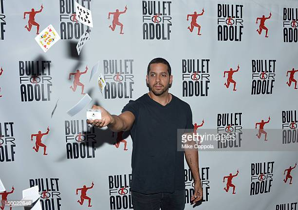 Illusionist David Blaine attends 'Bullet For Adolf' Off Broadway Opening Night at New World Stages on August 8 2012 in New York City