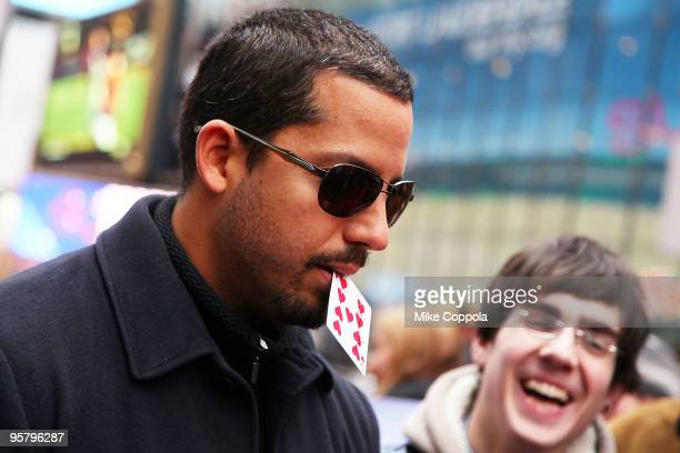 Illusionist David Blaine raises money for Haiti with a 72 hour Magic Marathon at Military Island Times Square on January 15 2010 in New York City