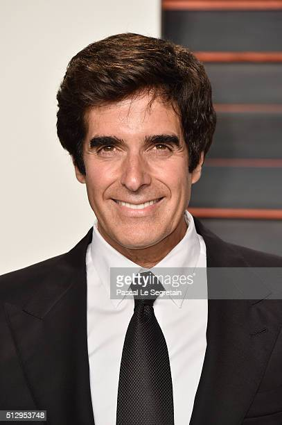 Illusionist David Copperfield attends the 2016 Vanity Fair Oscar Party Hosted By Graydon Carter at the Wallis Annenberg Center for the Performing...