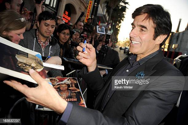 Illusionist David Copperfield attends the premiere of Warner Bros Pictures' 'The Incredible Burt Wonderstone' at TCL Chinese Theatre on March 11 2013...