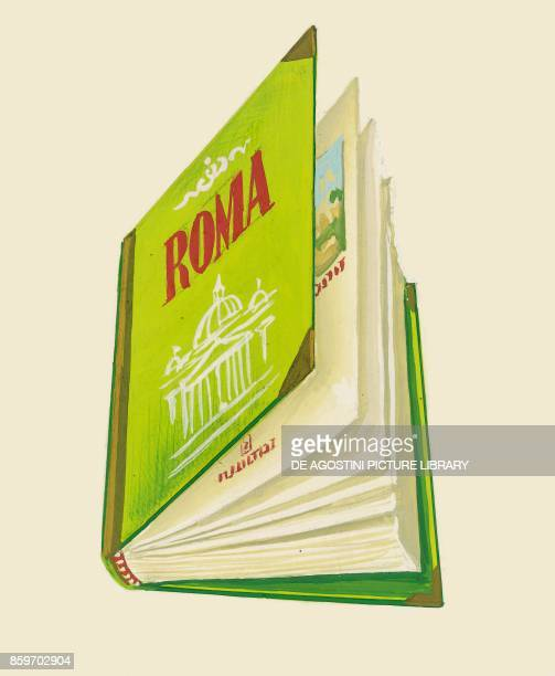 Illustrated book about the city of Rome children's illustration drawing