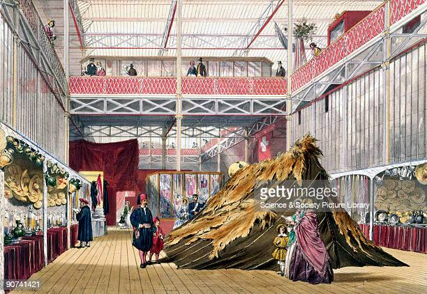 Illustrated plate taken from Dickinsons� �Comprehensive Pictures of The Great Exhibition' Prominent objects on display included an �Arabian� tent...