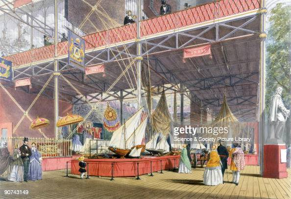 Illustrated plate taken from Dickinsons� 'Comprehensive Pictures of The Great Exhibition' The Crystal Palace was built to house the 'Great Exhibition...