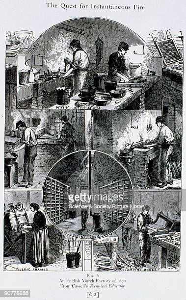 Illustrated plate titled �The Quest for Instantaneous Fire� taken from 'An Engineer's Note Book' in �Cassell�s Technical Educator� showing various...