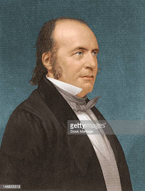 Illustrated portrait of an American naturalist and geologist Louis Agassiz mid to late 19th century