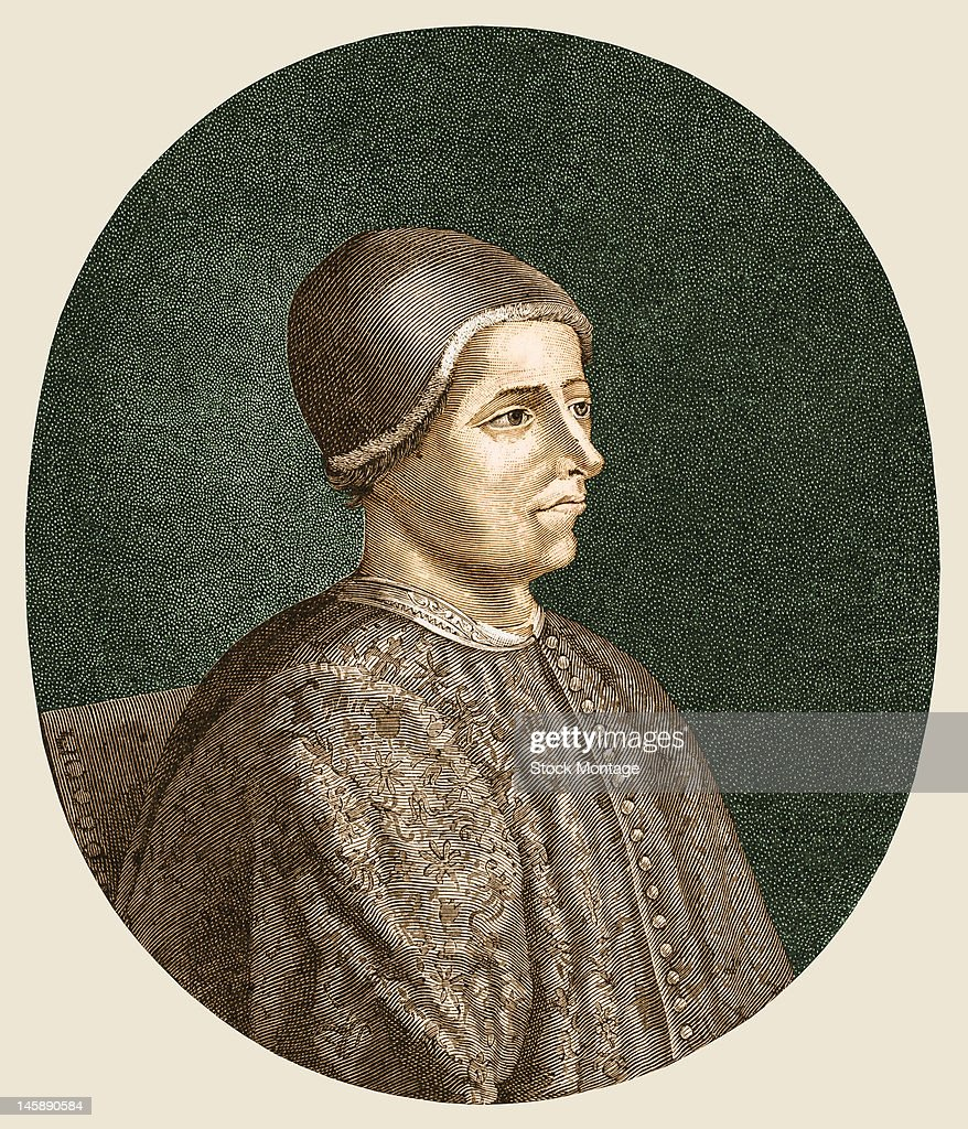 Illustrated portrait of French merchant Jacques Coeur early to mid 15th century