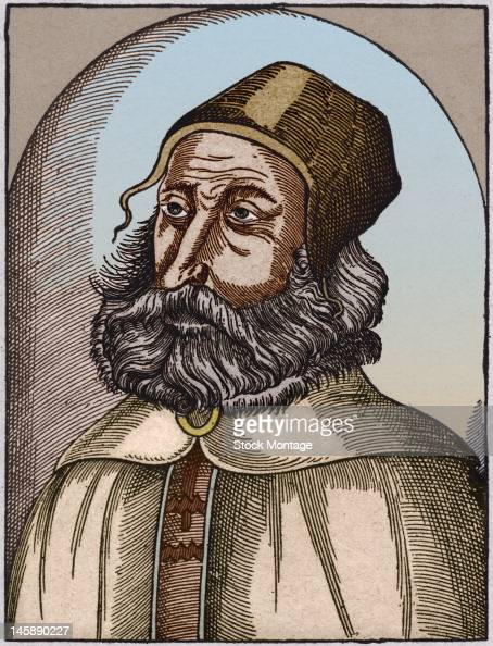 Illustrated portrait of Greek physician and philosopher Galen late 100s
