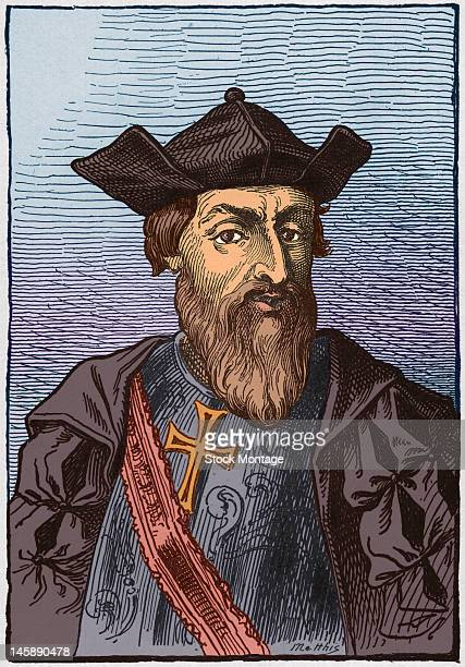 Illustrated portrait of Portugese explorer Vasco da Gama early to mid 15th century