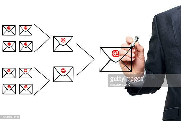 Illustrating the concept of email marketing