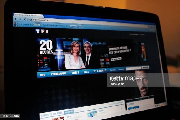 Illustration Raymond Domenech au journal de 20H de TF1 Diffusion suivie sur internet par le site de TF1