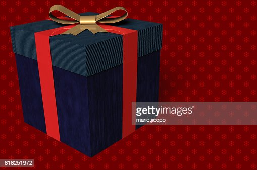 3D Illustration: A gift box with a bow : Foto de stock