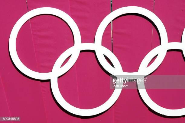 Illustration anneaux Parcours de la flamme olympique a Paris