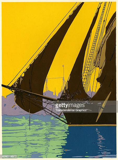 Illustration art with dramatic colors is offered by the Cincinnati Engraving Company Cincinnati Ohio 1927