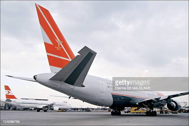 Illustration Austrian airlines In Vienna Austria In 2002 Austrian Airline Airbus A320 and Boeing B767300 Lauda air Schwechat airport