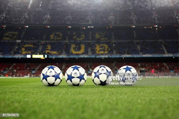 Illustration ballon Adidas au Nou Camp Barcelone / Kobenhavn Champions League 2010/2011