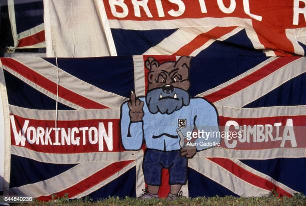 Illustration banderole supporters Angleterre Danemark / Angleterre Euro 1992 Photo Alain Gadoffre / Icon Sport