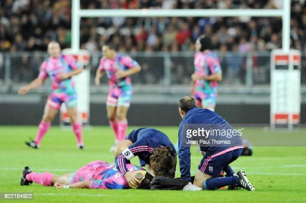 Illustration Blessure / Soigneur / Poche de Glace Bourgoin / Stade Francais 6eme journee de Top 14 Stade des Alpes de Grenoble