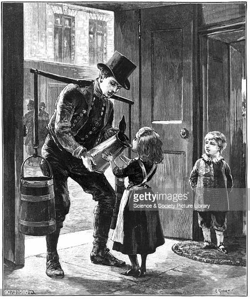 Illustration by W H Overend as shown in the �Illustrated London News� 'Schonberg one of the ILN's roving artists had witnessed a little girl drinking...