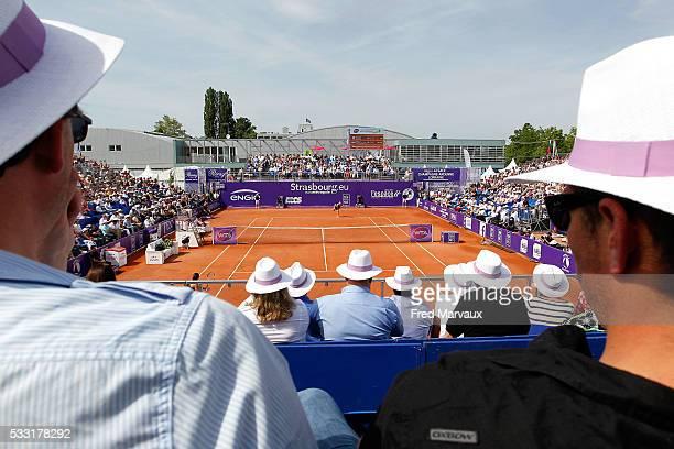 Illustration Central Court during the Internationaux de Strasbourg Final at Strasbourg Tennis Club on May 21 2016 in Strasbourg France