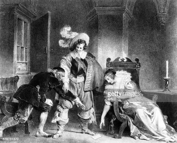 Illustration de la 'scène de la lettre' dans la pièce de théâtre le 'Barbier de Séville' de Beaumarchais