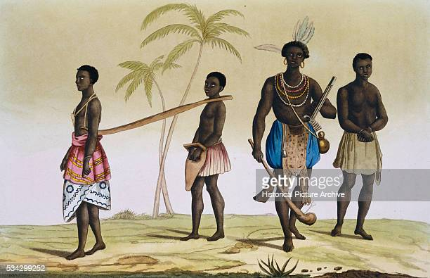 Illustration Depicting African Slaves of the Portuguese