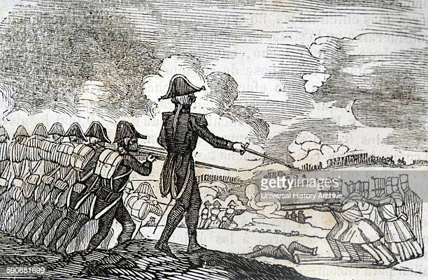 Illustration depicting the attack on Mengibar during the Peninsular War was a military conflict between Napoleon's empire and the allied powers of...