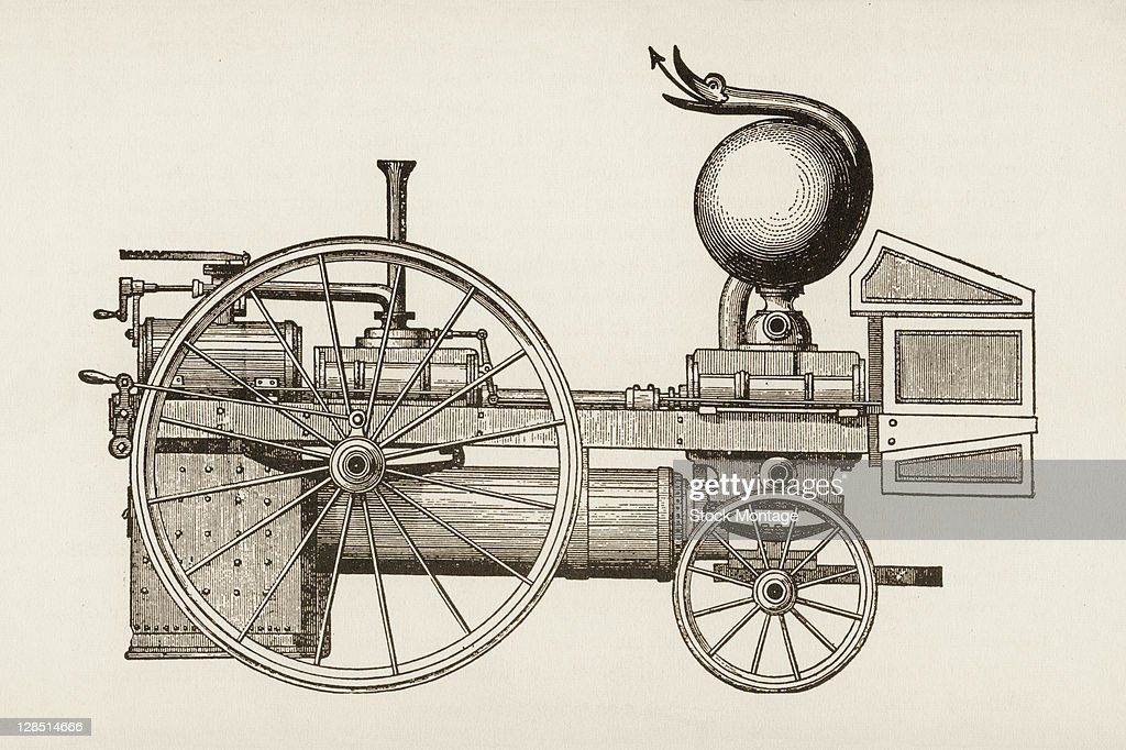 Illustration depicts a steampowered fire engine design 1840
