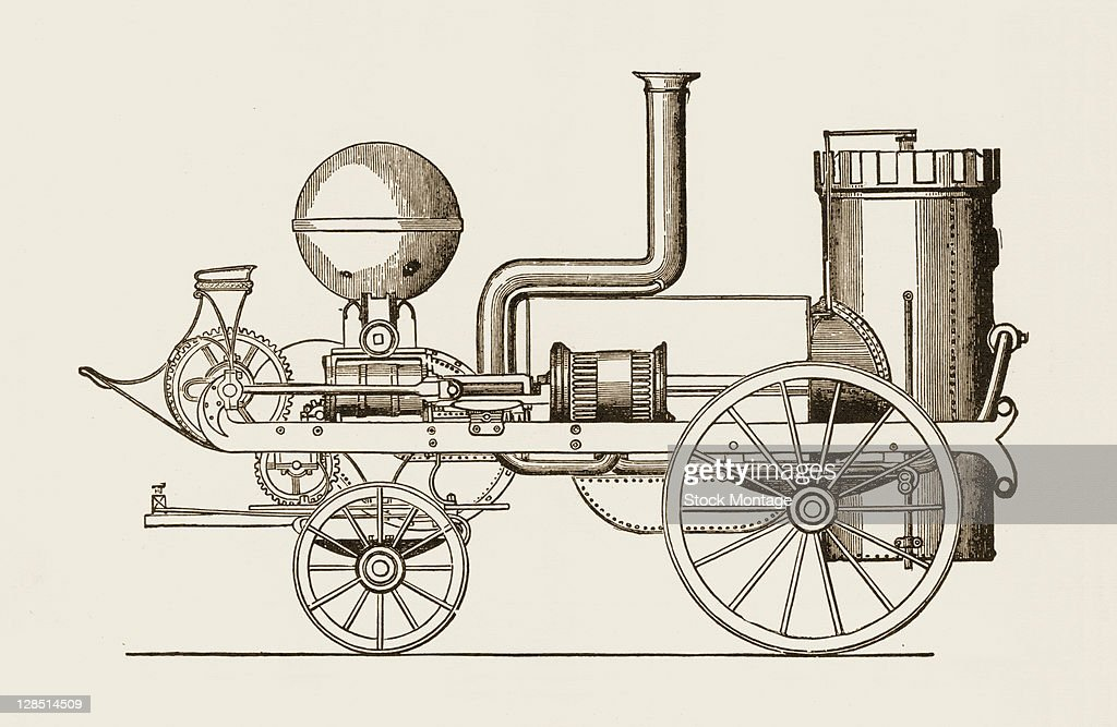 Illustration depicts the fourth steampowered fire engine designed and built by John Braithwaite 1832 This model named the 'Comet' was built for the...
