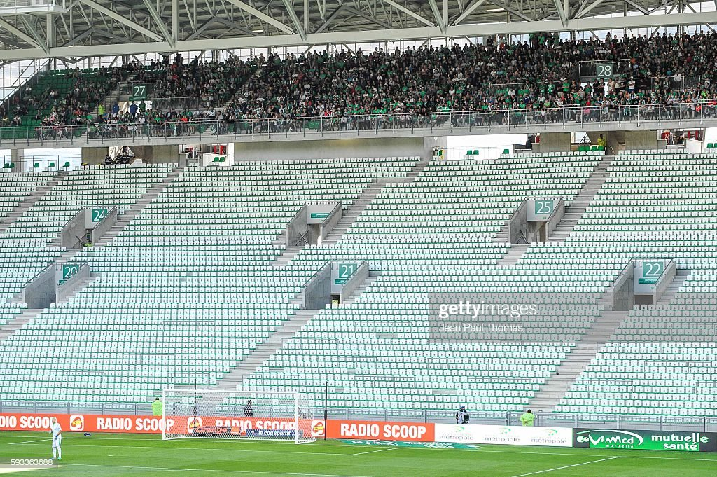 Illustration during the Ligue 1 match between As Saint Etienne and Montpellier Herault at Stade GeoffroyGuichard on August 21 2016 in SaintEtienne...