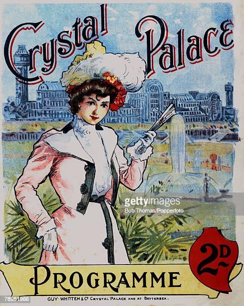 Illustration Fashion Chromolithograph An original programme cover from 1904 for events at the Crystal Palace in South London published by Guy Whittem...