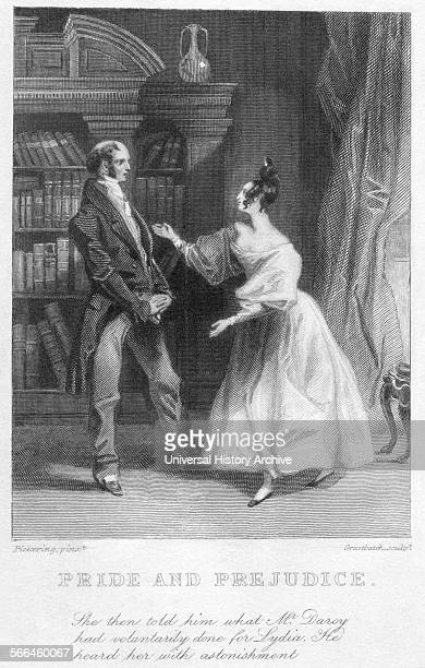 Illustration for Jane Austen's novel 'Pride and Prejudice' Dated 1855
