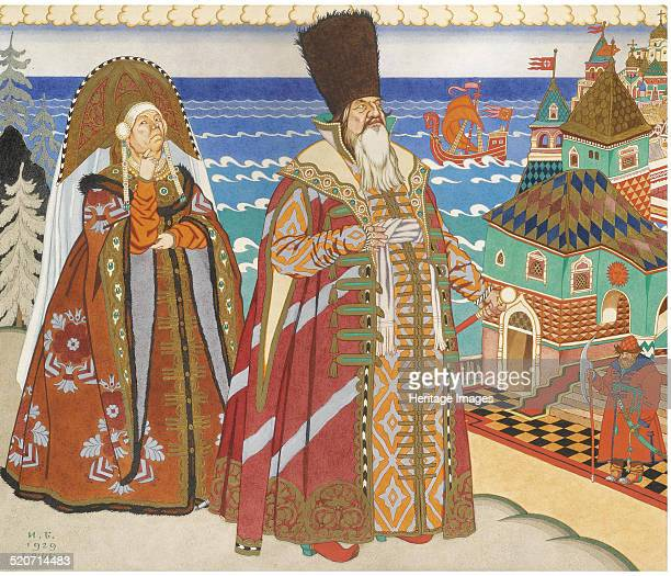 Illustration for the Fairy tale of the Tsar Saltan by A Pushkin Private Collection