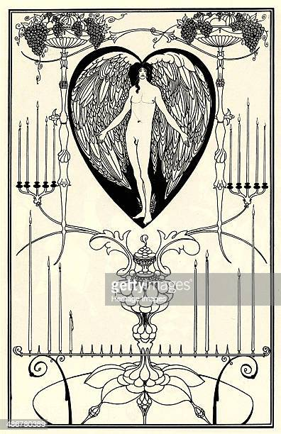 Illustration for The Mirror of Love by MarcAndré Raffalovich 1895 Artist Beardsley Aubrey