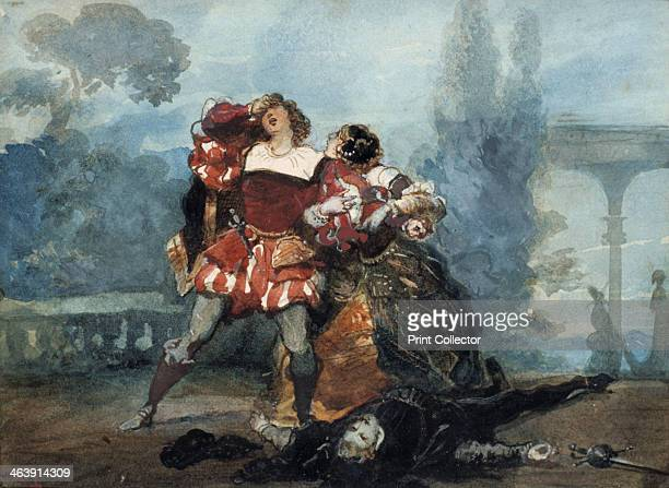 Illustration for the play Whims of Marianne 1851 Alfred de Musset's tragedy is about a young woman who heartlessly ignores a passionate suitor only...