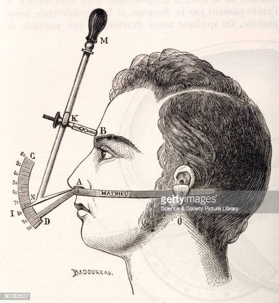 Illustration from �Dictionnaire des sciences anthropologiques� an anthropological dictionary which covered such subjects as anatomy craniology...
