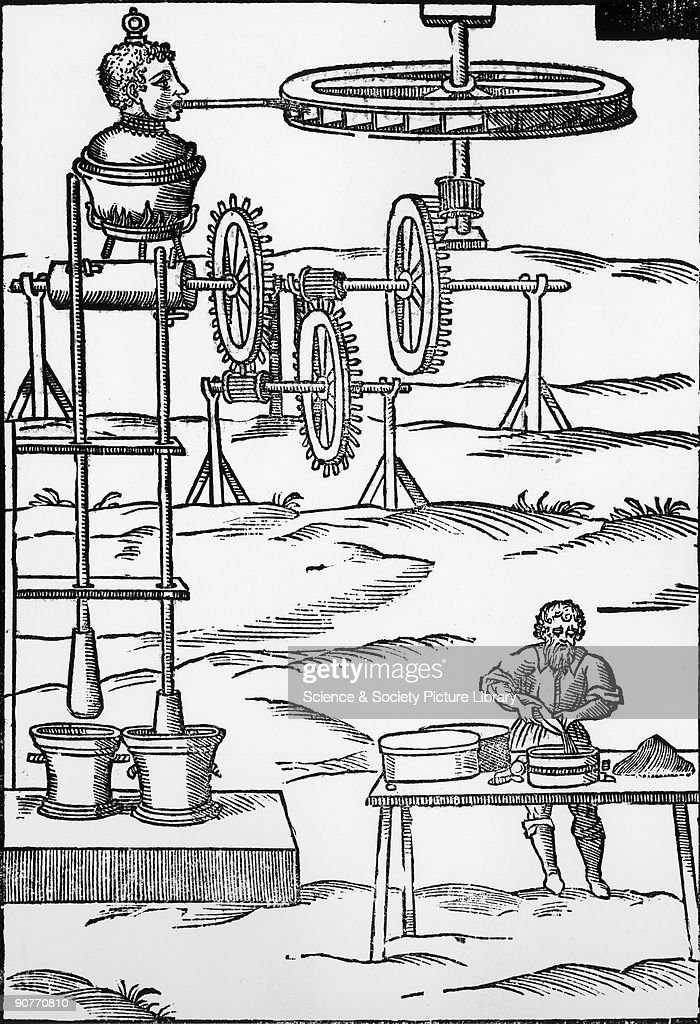 Illustration from Giovanni Branca�s �Le Machine� published in 1629