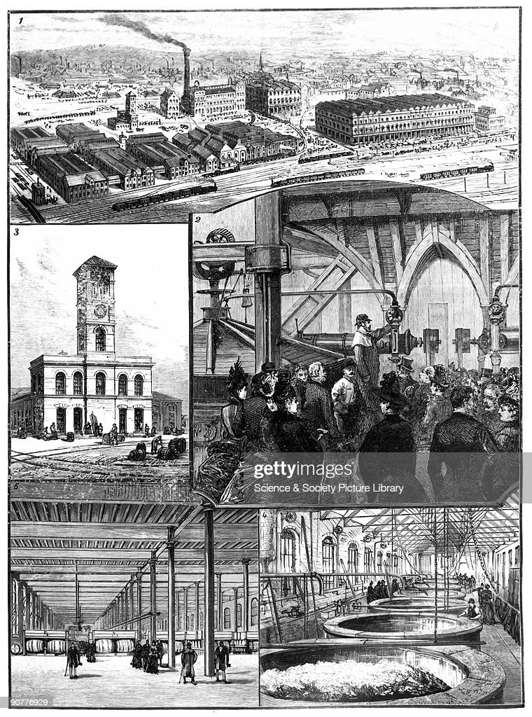 Illustration from the �Illustrated London News� The Prince of Wales later Edward VII visits Ind Coope and Allsop's Brewery in Burton on Trent...